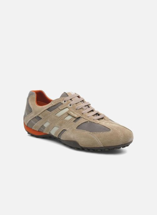 Sneakers Geox U SNAKE K U4207K Beige detaljeret billede af skoene