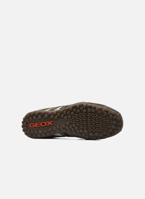 Baskets Geox U SNAKE K U4207K Gris vue haut