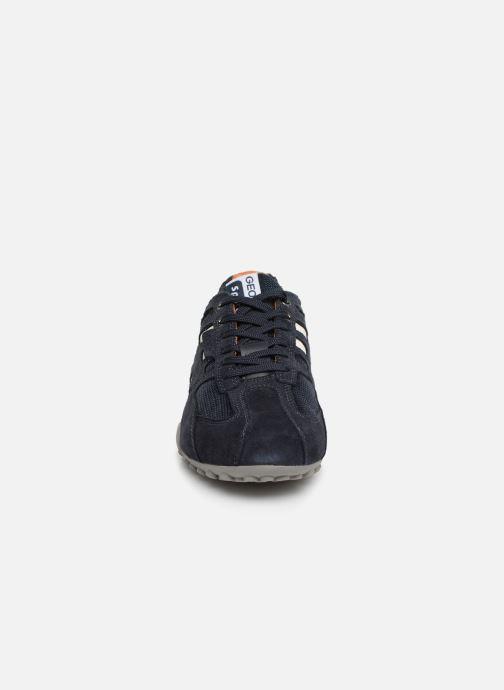 Sneaker Geox U SNAKE K U4207K blau schuhe getragen