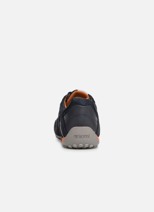 Sneaker Geox U SNAKE K U4207K blau ansicht von rechts