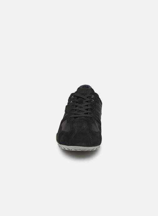 Sneaker Geox U SNAKE K U4207K schwarz schuhe getragen