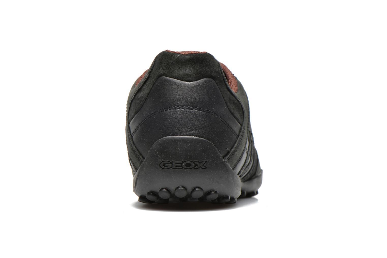 Baskets Geox U SNAKE K U4207K Noir vue droite