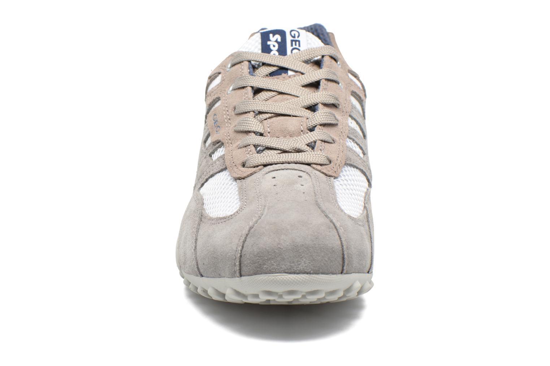 Baskets Geox U SNAKE K U4207K Blanc vue portées chaussures
