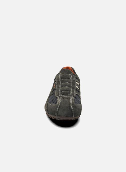 Baskets Geox U SNAKE L U4207L Gris vue portées chaussures