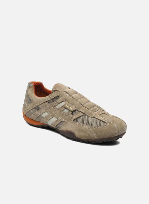 Sneakers Geox U SNAKE L U4207L Beige detaljeret billede af skoene