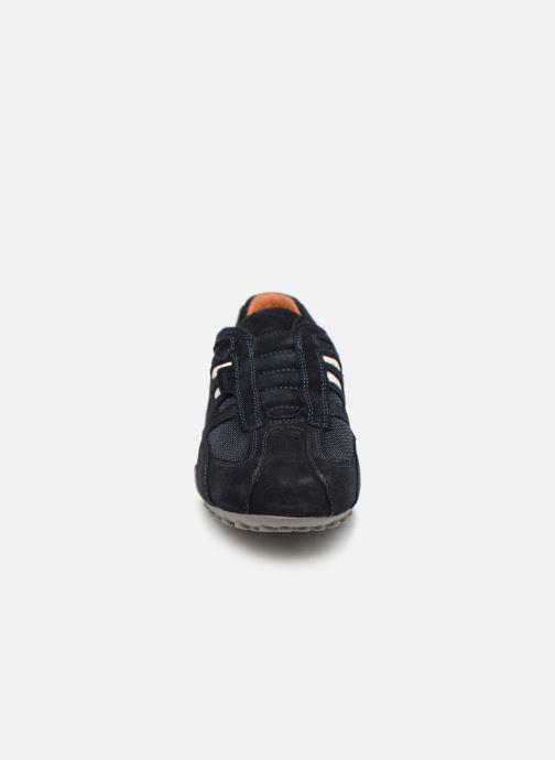 Baskets Geox U SNAKE L U4207L Bleu vue portées chaussures
