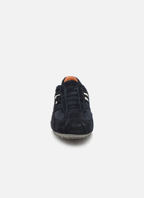 Sneakers Geox U SNAKE L U4207L Azzurro modello indossato