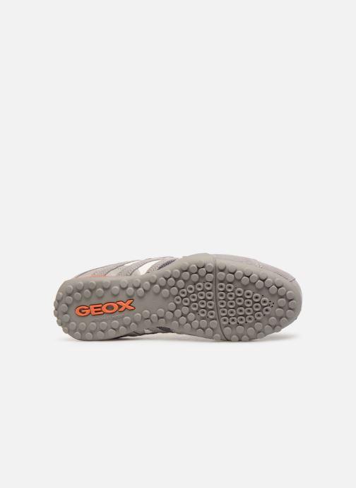 Baskets Geox U SNAKE L U4207L Gris vue haut