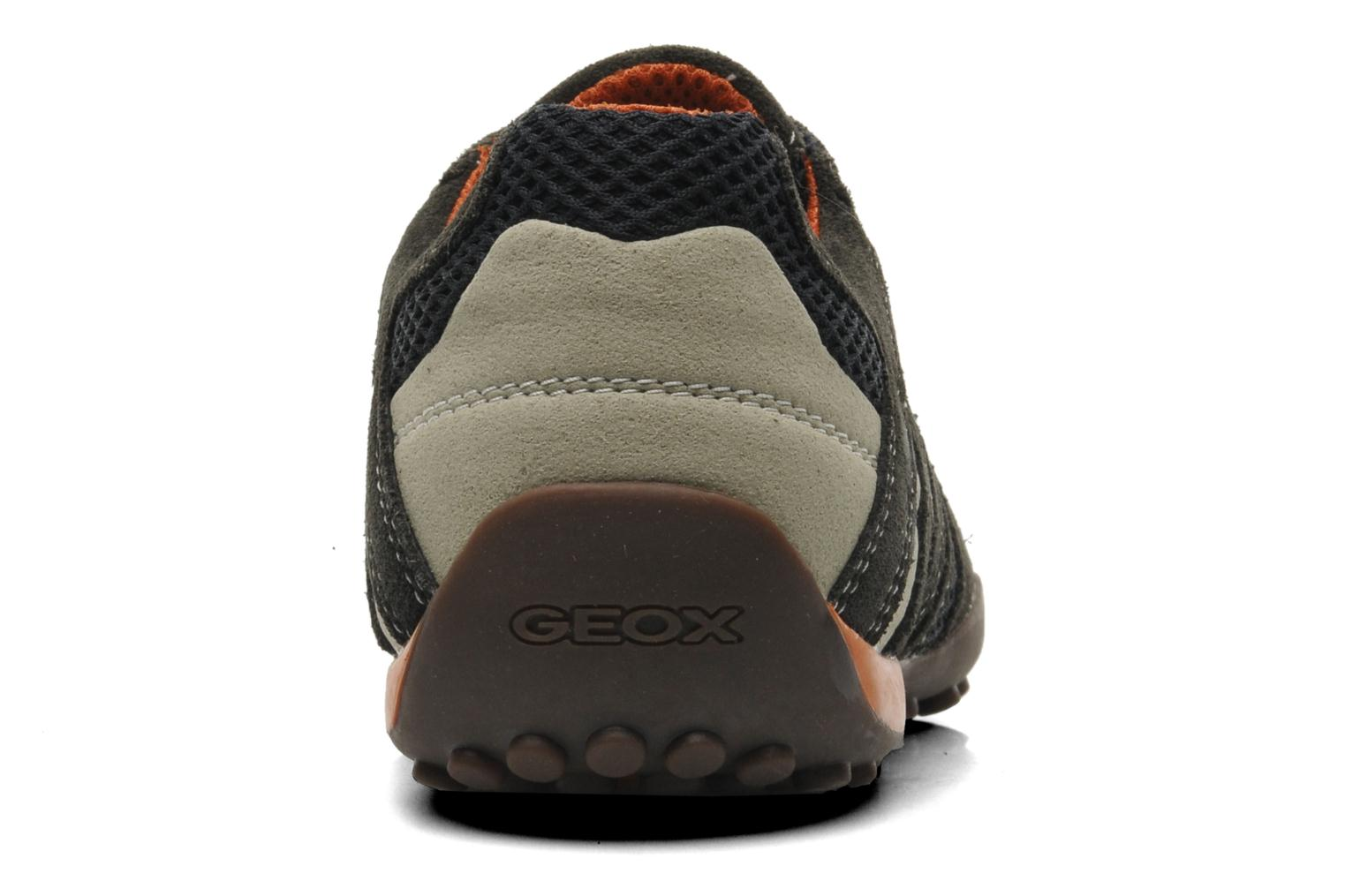 Trainers Geox U SNAKE L U4207L Grey view from the right