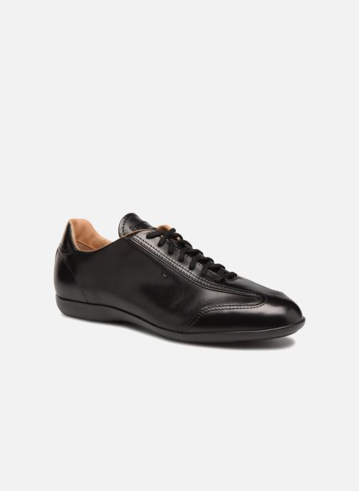 Trainers Santoni Eagle 13831 Black detailed view/ Pair view