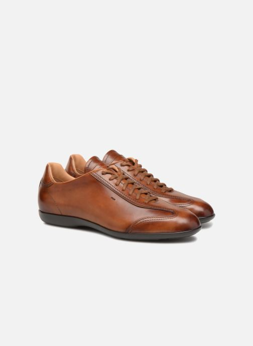 Trainers Santoni Eagle 13831 Brown 3/4 view
