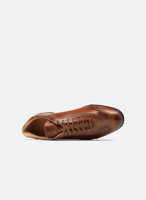 Trainers Santoni Eagle 13831 Brown view from the left