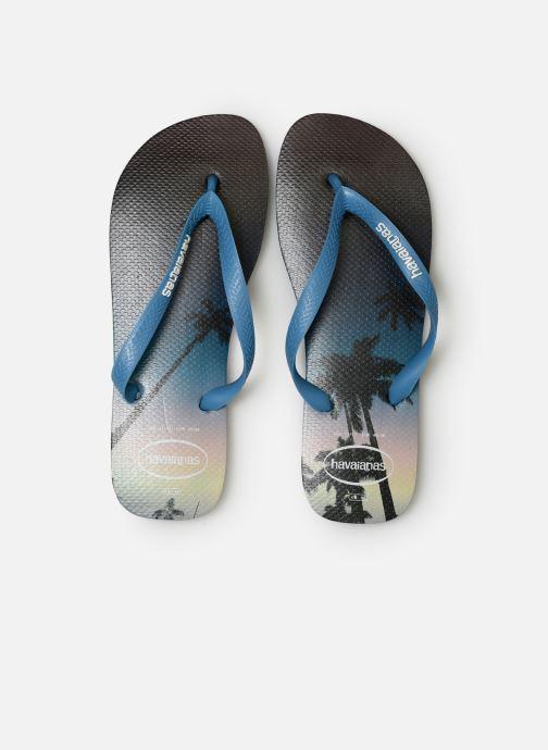Tongs Havaianas Hype Bleu vue portées chaussures