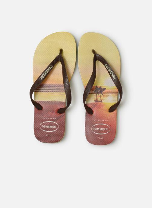 Tongs Havaianas Hype Orange vue portées chaussures