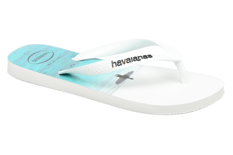 Tongs Havaianas Hype Blanc vue détail/paire