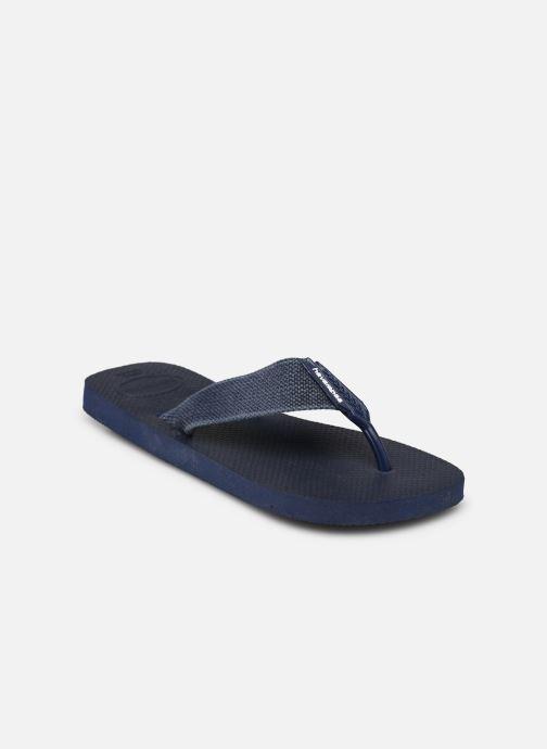 Tongs Havaianas Urban Basic Bleu vue portées chaussures