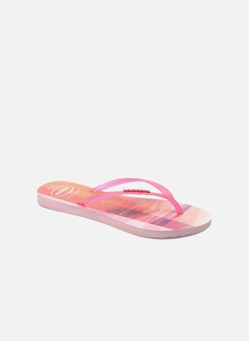 30a94d5a3 Havaianas Slim Paisage (Pink) - Flip flops chez Sarenza (251850)