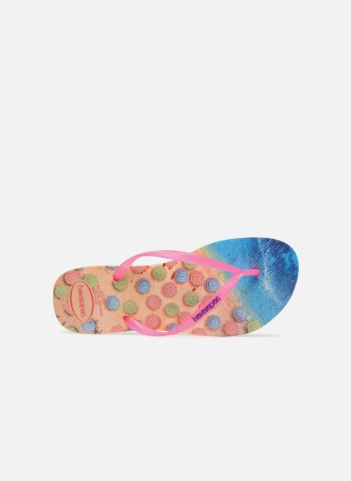Tongs Havaianas Slim Paisage Multicolore vue gauche