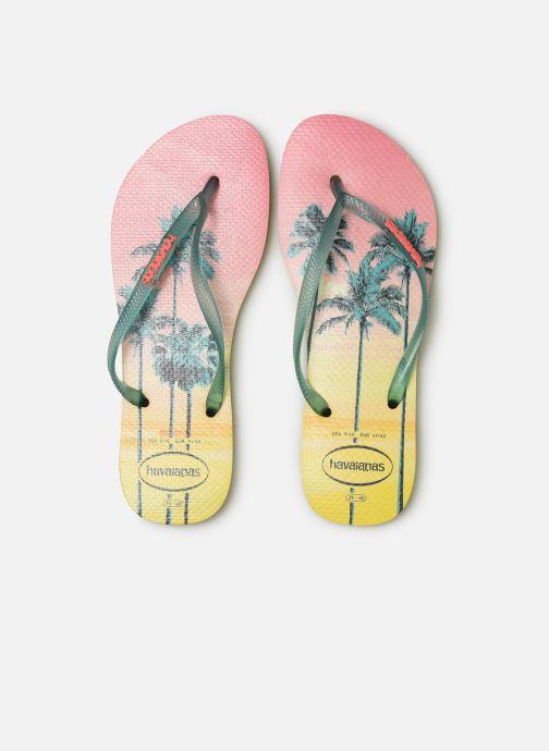 Tongs Havaianas Slim Paisage Multicolore vue portées chaussures