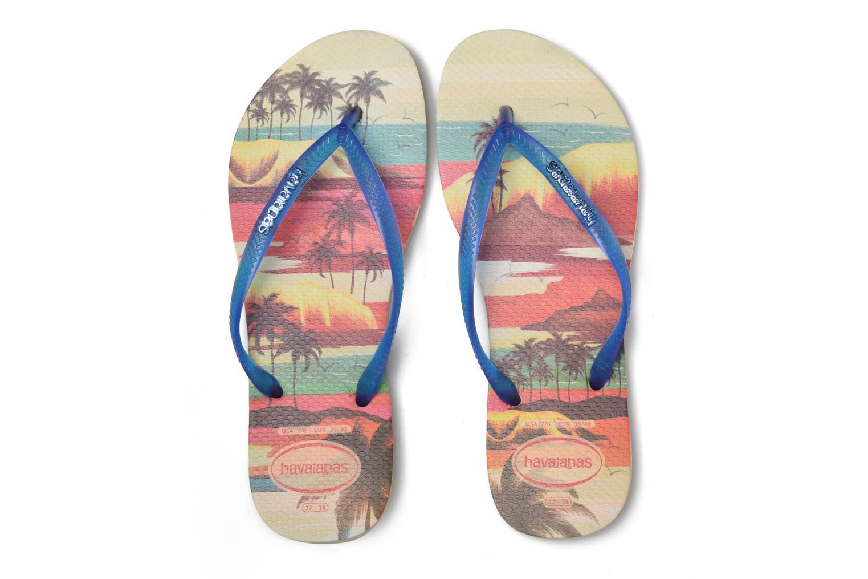 Tongs Havaianas Slim Paisage Beige vue 3/4