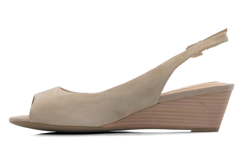 Sandales et nu-pieds Geox D FLORALIE C D42T4C Beige vue face
