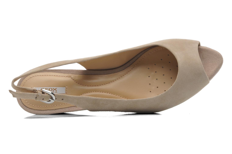 Sandales et nu-pieds Geox D FLORALIE C D42T4C Beige vue gauche
