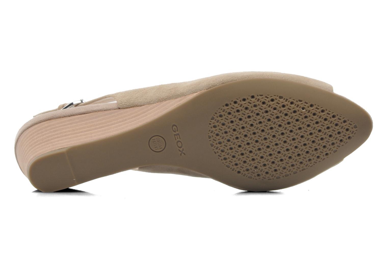 Sandales et nu-pieds Geox D FLORALIE C D42T4C Beige vue haut