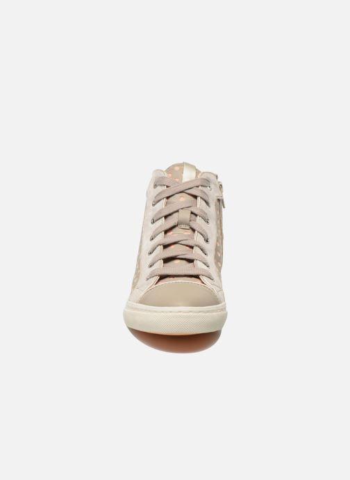 Sneaker Geox D NEW CLUB B D5258B grau schuhe getragen