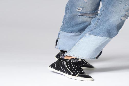 Sneaker Geox D NEW CLUB B D5258B schwarz ansicht von unten / tasche getragen