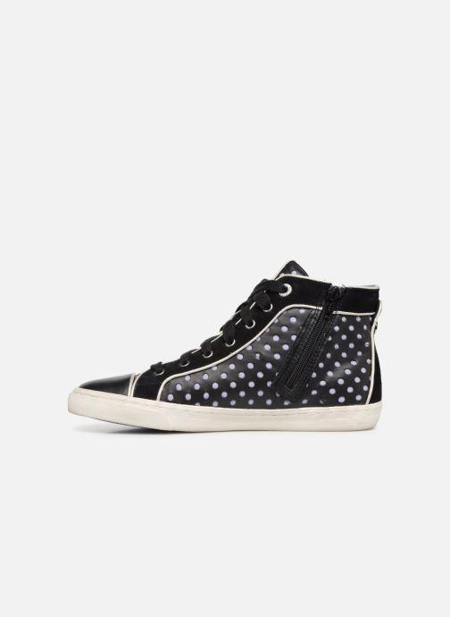 Sneaker Geox D NEW CLUB B D5258B schwarz ansicht von vorne