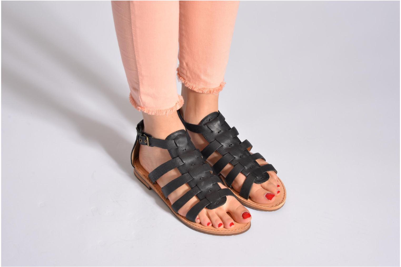 Sandals Geox D JOLANDA D D5275D Black view from underneath / model view