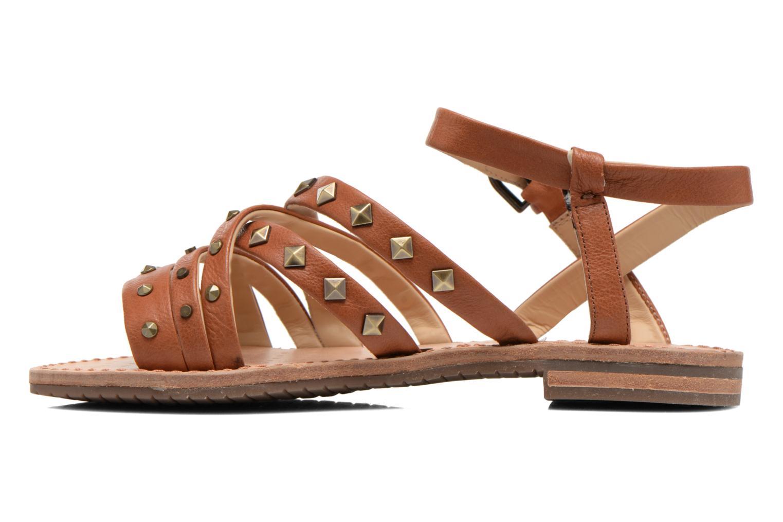 Sandals Geox D JOLANDA E D5275E Brown front view