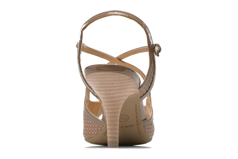 Sandales et nu-pieds Geox D DONYALE A D52B9A Marron vue droite