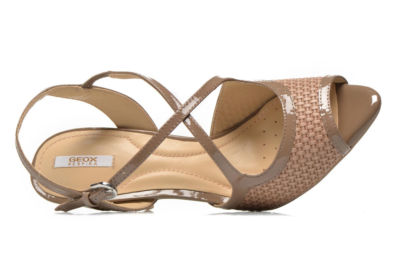Sandales et nu-pieds Geox D DONYALE A D52B9A Marron vue gauche