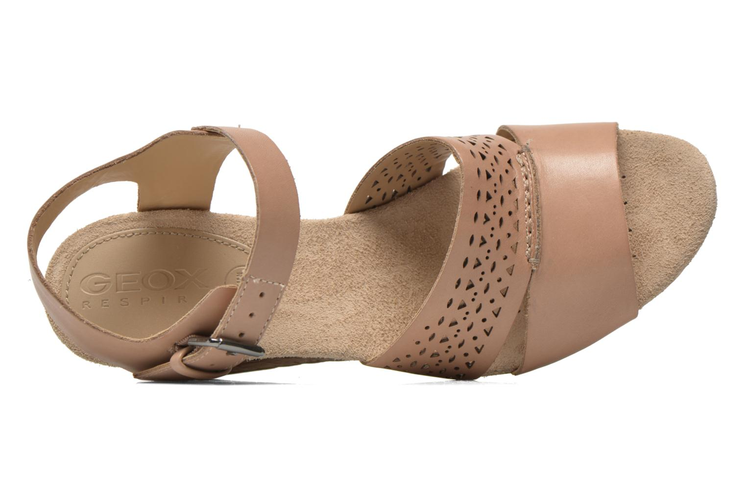 Sandals Geox D ALIAS A D52C3A Brown view from the left