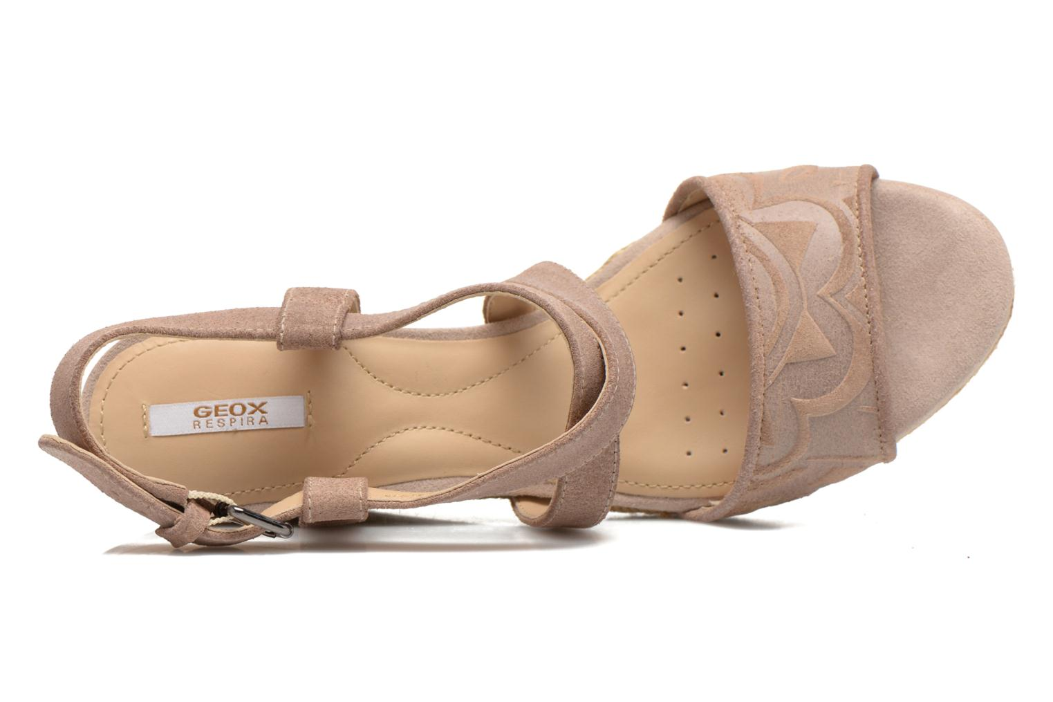 Sandals Geox D SOLEIL A D52N7A Brown view from the left