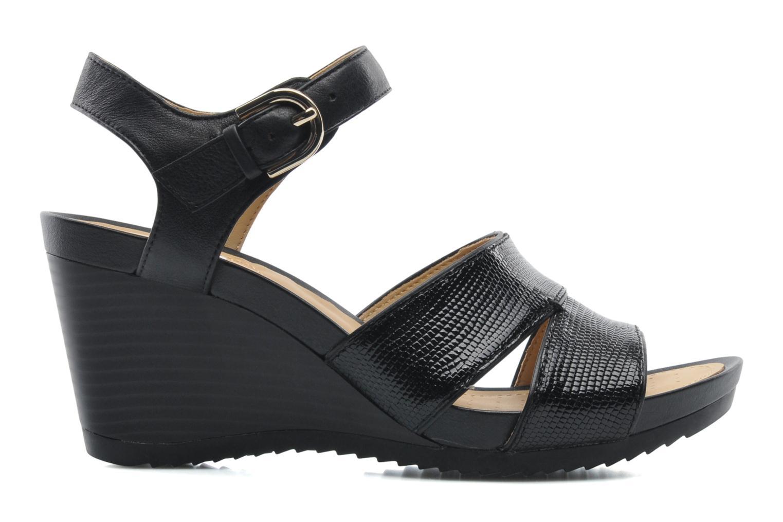 Sandales et nu-pieds Geox D NEW Rorie F D52P3F Noir vue derrière