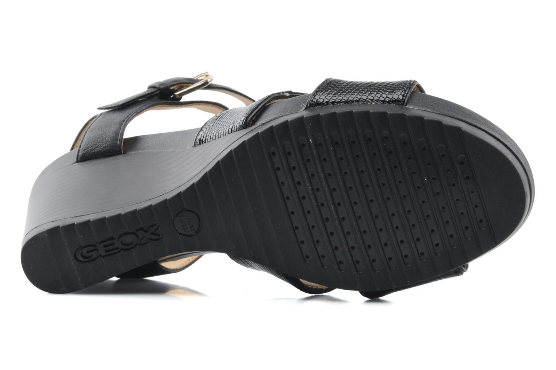 Sandales et nu-pieds Geox D NEW Rorie F D52P3F Noir vue haut
