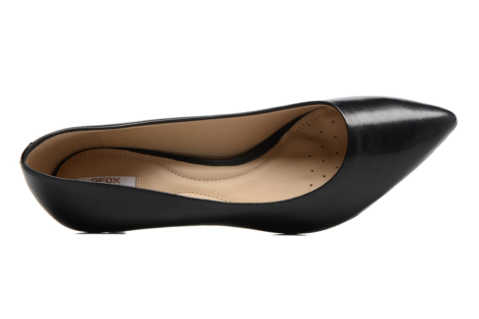 High heels Geox D ELINA C D52P8C Black view from the left