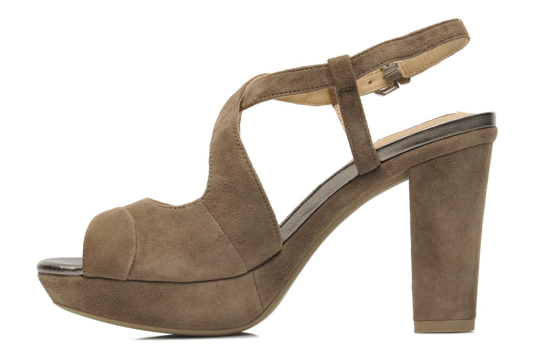 Sandales et nu-pieds Geox D HERITAGE B D52R1B Beige vue face