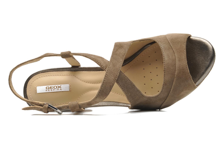 Sandales et nu-pieds Geox D HERITAGE B D52R1B Beige vue gauche
