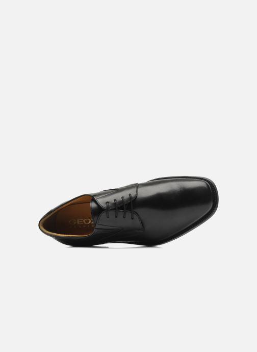 Zapatos con cordones Geox U FEDERICO V U2257V Negro vista lateral izquierda