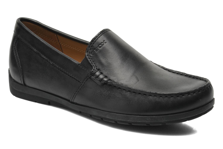 Loafers Geox U SIMON W C U34R1C Sort detaljeret billede af skoene