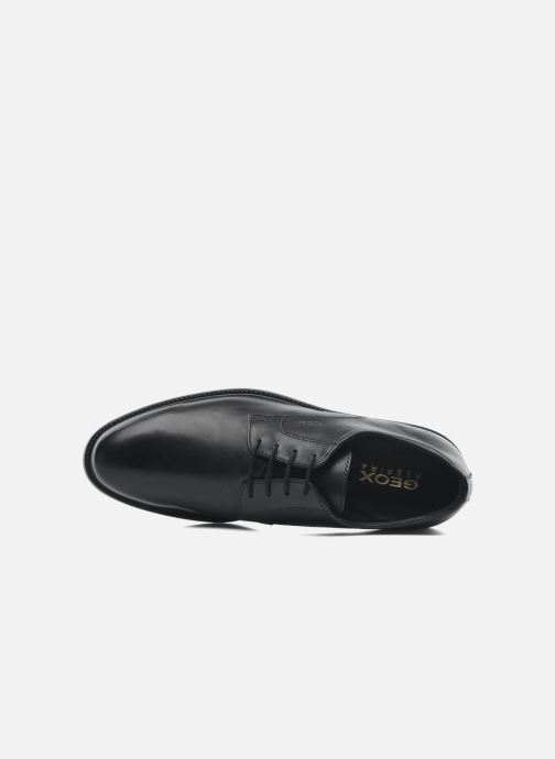 Lace-up shoes Geox U CARNABY D U52W1D Black view from the left