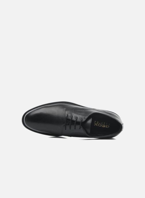 Zapatos con cordones Geox U CARNABY D U52W1D Negro vista lateral izquierda
