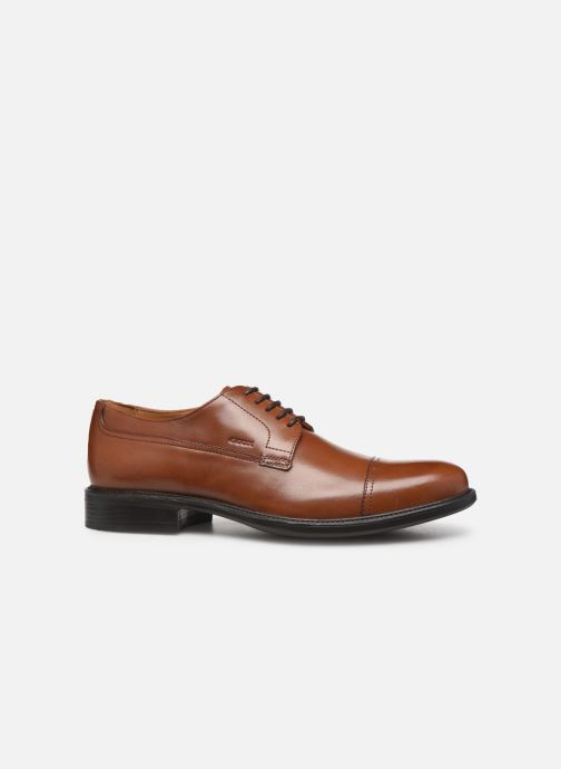 Lace-up shoes Geox U CARNABY D U52W1D Brown back view