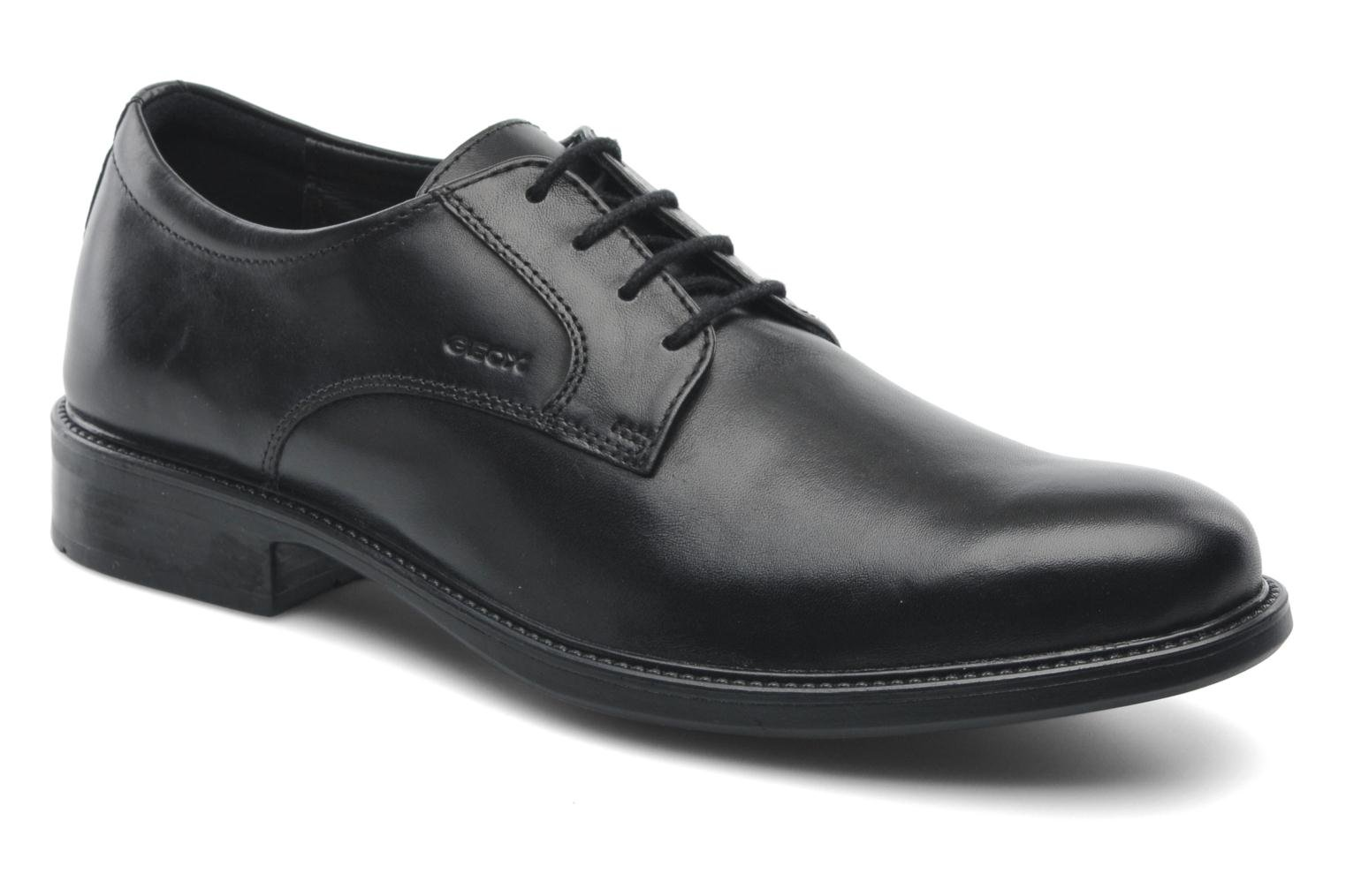 Lace-up shoes Geox U CARNABY D U52W1D Black detailed view/ Pair view