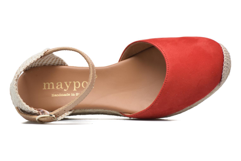 Sandaler Maypol Macaret Rød se fra venstre