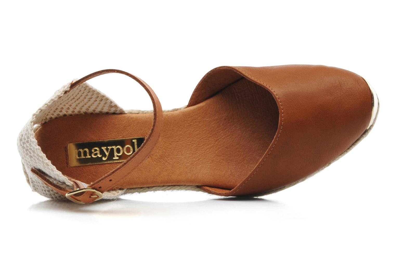 Sandales et nu-pieds Maypol Luz Marron vue gauche
