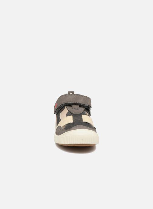 Kickers ZIGUERO (Gris) Chaussures à scratch chez Sarenza